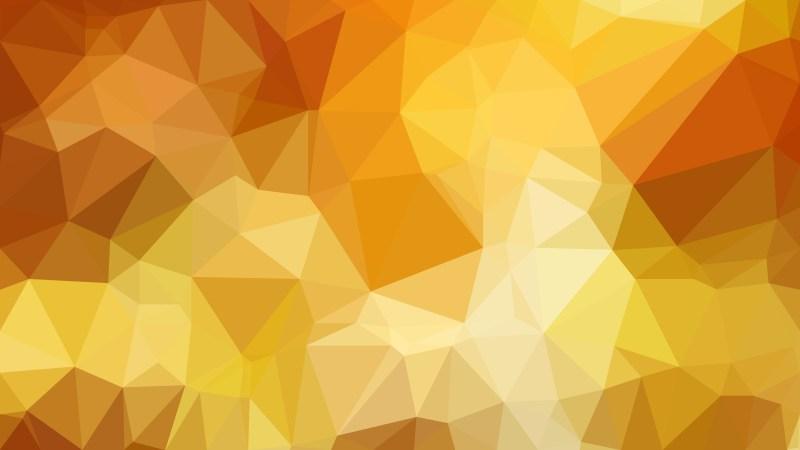 Abstract Orange Polygonal Triangular Background Vector Art