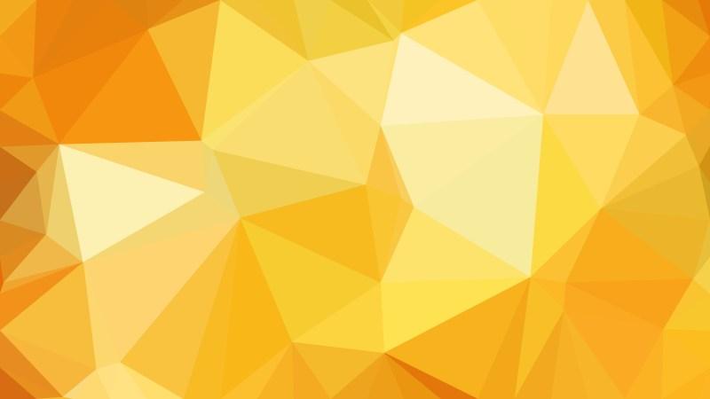 Orange Polygon Triangle Pattern Background
