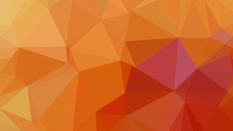 Orange Low Poly Abstract Background