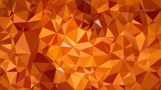 Orange Polygonal Triangular Background