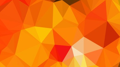 Abstract Orange Polygon Background Template