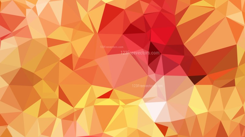 Orange Low Poly Background Template Design