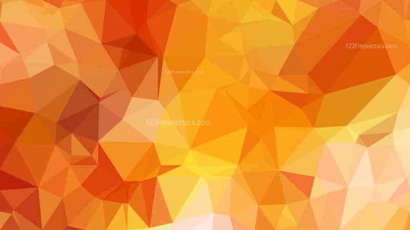 Orange Polygonal Background Image