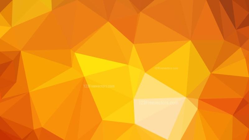 Orange Polygonal Background Template Vector Graphic