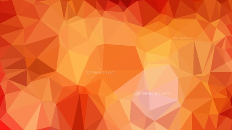 Orange Polygon Triangle Background Vector Image