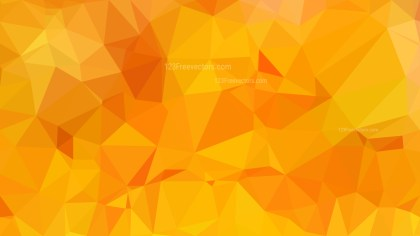 Orange Polygonal Triangle Background Illustrator