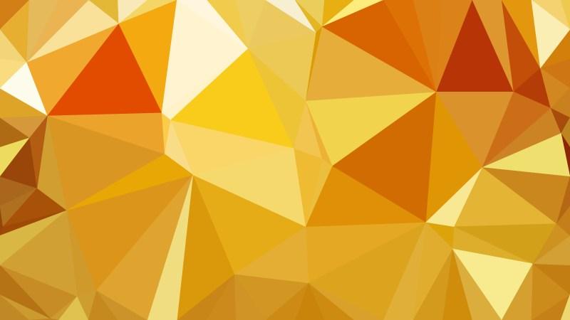 Orange Polygonal Background Design