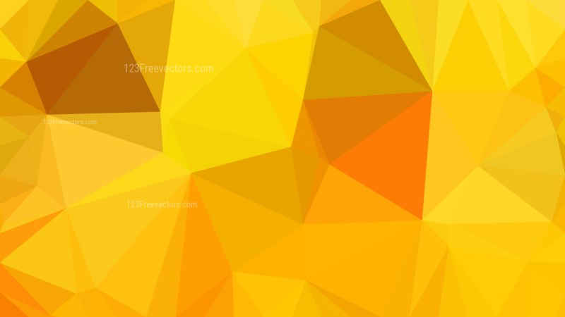 Abstract Orange Low Poly Background Design