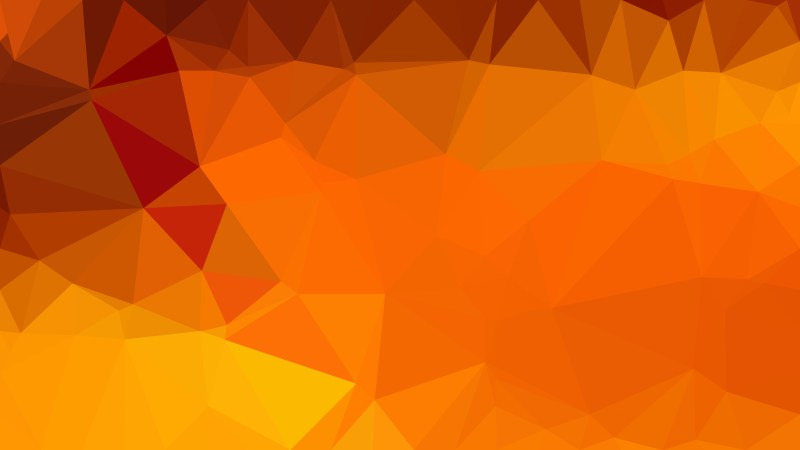 Abstract Orange Polygon Pattern Background Illustration