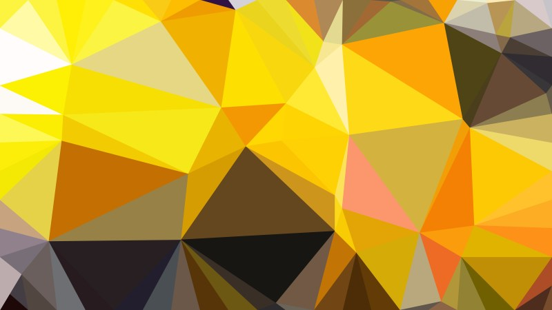 Orange and Black Low Poly Abstract Background Design Illustrator