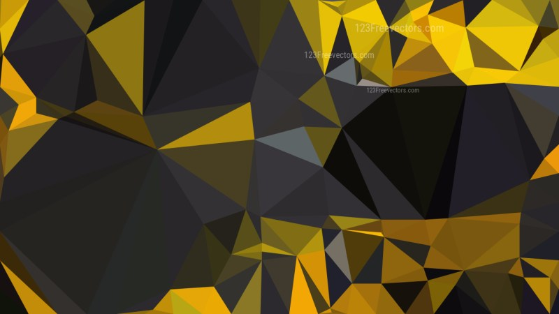 Orange and Black Low Poly Abstract Background