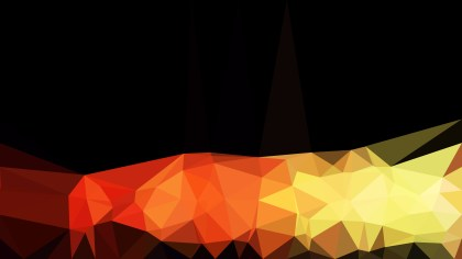 Orange and Black Polygonal Abstract Background