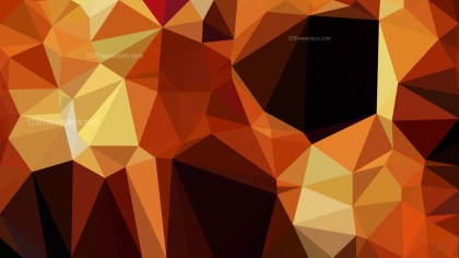 Abstract Orange and Black Polygon Background Template Design