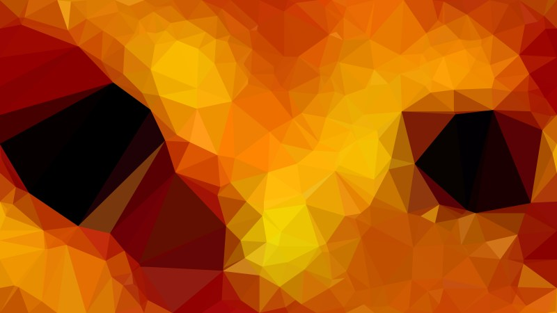 Abstract Orange and Black Polygonal Background Design
