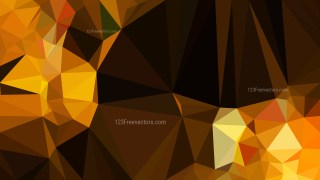 Abstract Orange and Black Polygon Triangle Background Vector Image