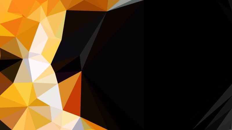 Orange and Black Polygonal Background Design