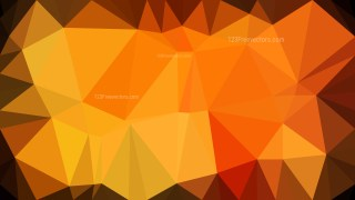 Orange and Black Low Poly Abstract Background Design