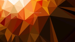 Orange and Black Polygon Background Design Vector