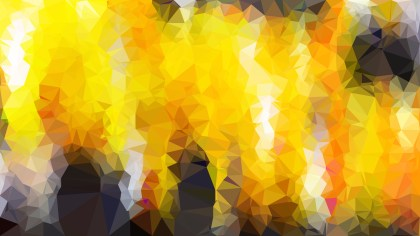 Orange and Black Polygon Pattern Abstract Background