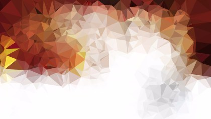 Abstract Orange and White Polygon Background Design