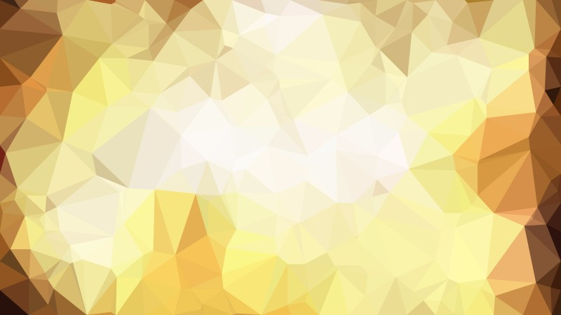 Orange and White Polygonal Triangular Background