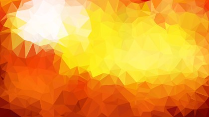 Orange and White Low Poly Background Design