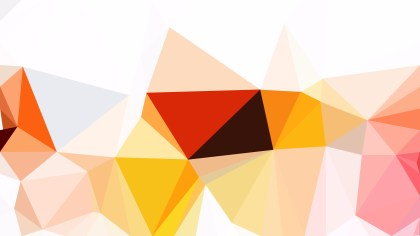 Abstract Orange and White Polygon Background Design Vector