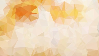 Orange and White Polygonal Background Vector Image