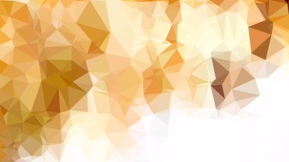 Abstract Orange and White Low Poly Background Image