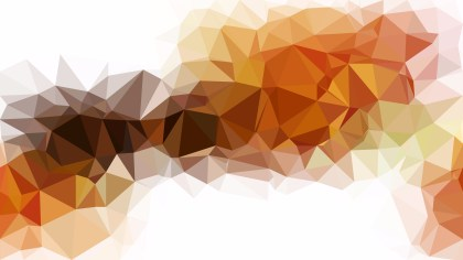 Abstract Orange and White Polygon Triangle Background Vector Illustration