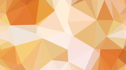 Orange and White Polygonal Abstract Background Vector Art
