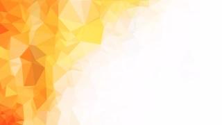 Orange and White Polygon Background Template Design