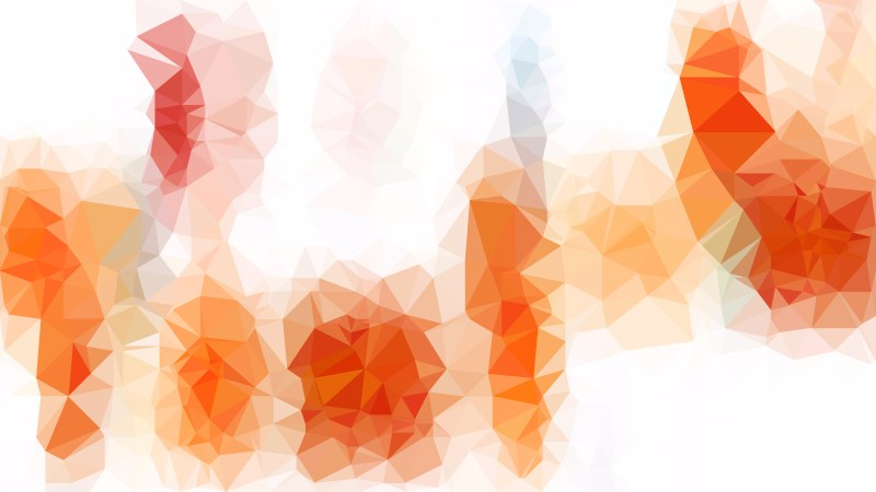 Orange and White Low Poly Background