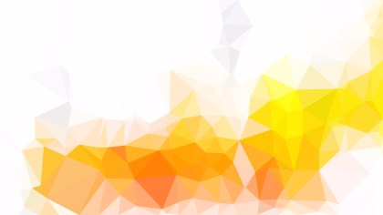 Orange and White Low Poly Background Template
