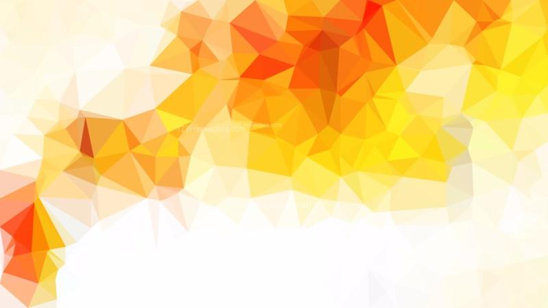 Orange and White Polygonal Background