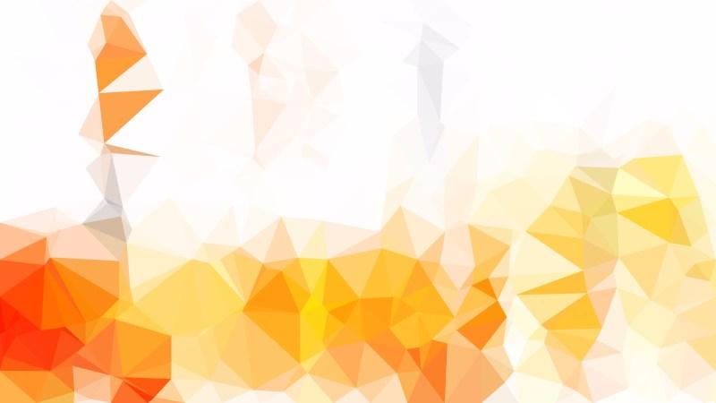 Orange and White Polygon Triangle Background