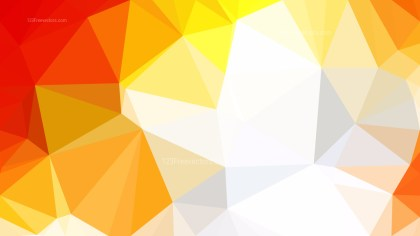 Abstract Orange and White Polygon Background