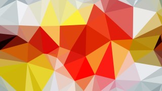 Abstract Orange and White Low Poly Background Template