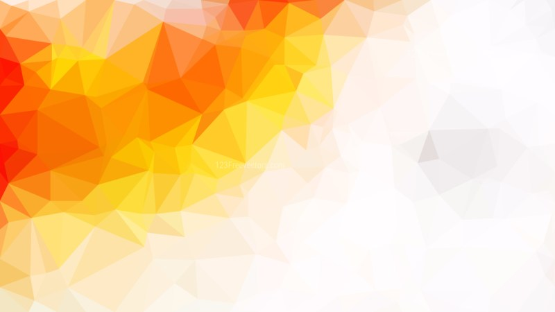 Abstract Orange and White Polygonal Background