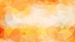 Abstract Orange and White Polygonal Triangle Background