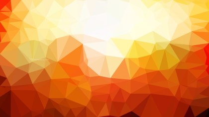 Orange and White Polygonal Triangular Background Vector Illustration