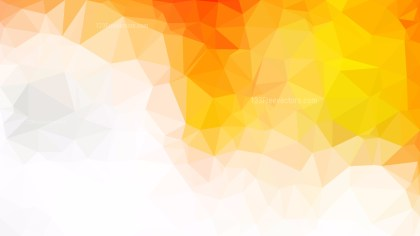 Abstract Orange and White Polygonal Background Image