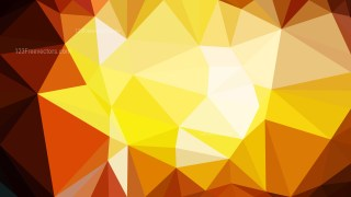 Abstract Orange and White Low Poly Background Design