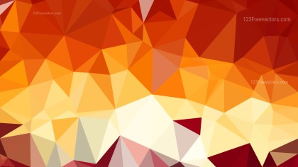 Abstract Orange and White Polygon Triangle Background