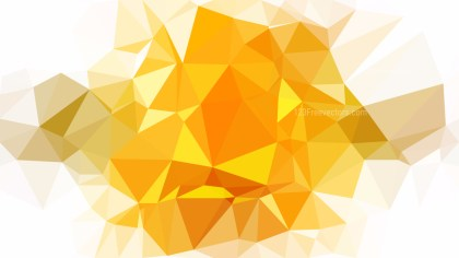 Orange and White Low Poly Abstract Background Design