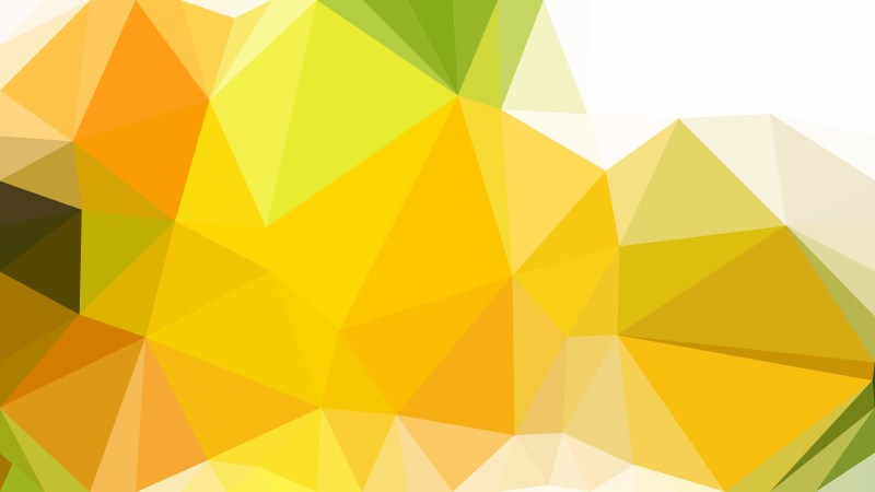 Orange and White Low Poly Background Design Vector