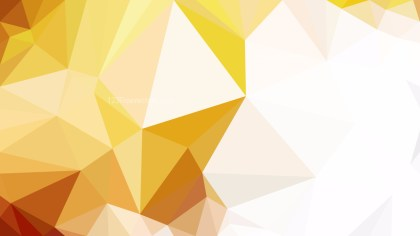 Abstract Orange and White Low Poly Background