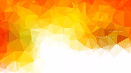 Abstract Orange and White Polygon Background Vector