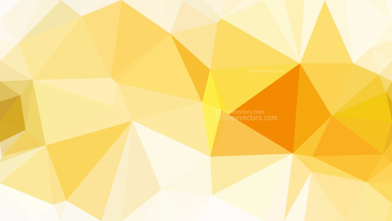 Abstract Orange and White Polygonal Background Template Vector Graphic