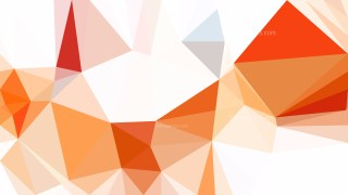 Abstract Orange and White Polygon Background Graphic Design